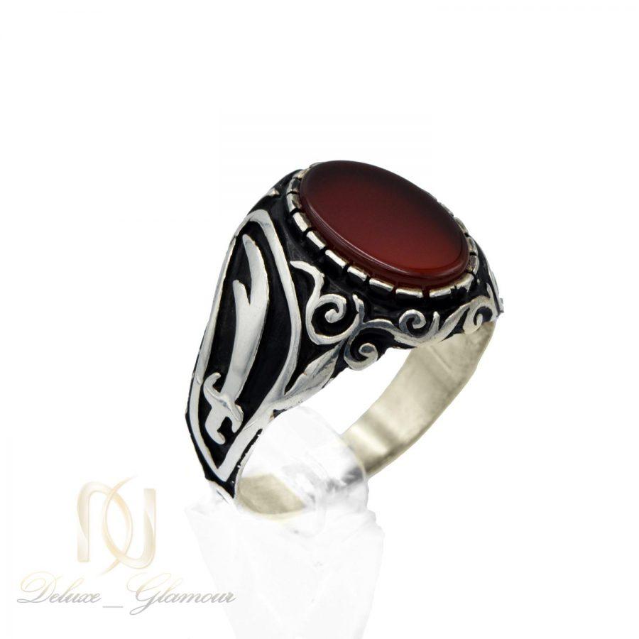 انگشتر نقره مردانه نگین عقیق ترکیه ای rg-n334 از نمای روبرو