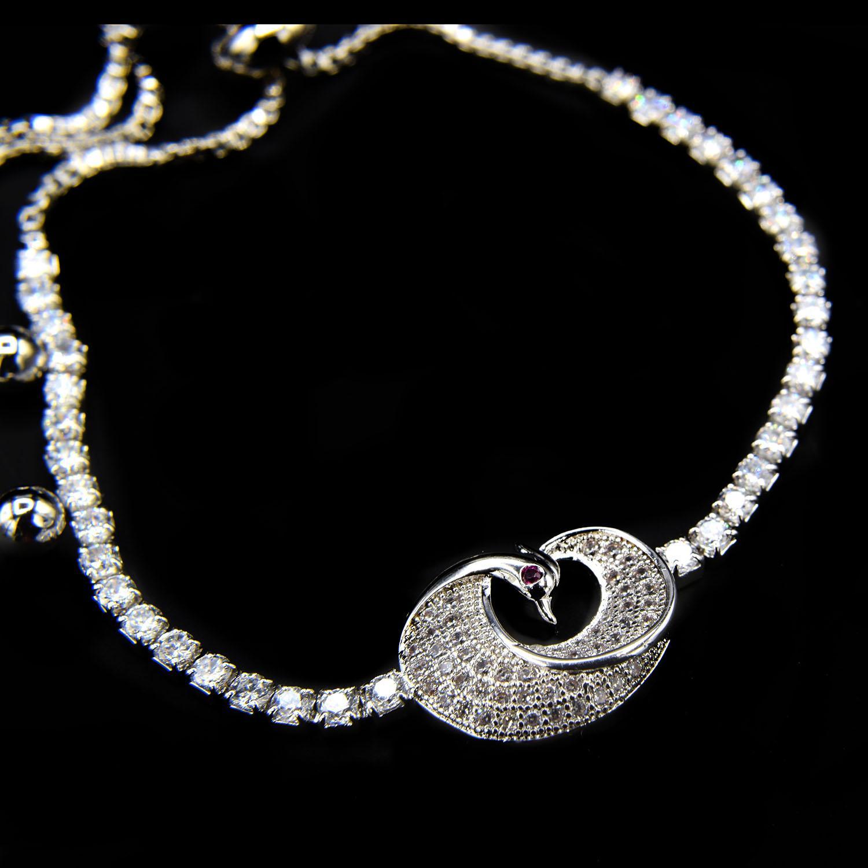 دستبند دخترانه طرح پرنده استیل مارشالی ds-n405 از نمای مشکی