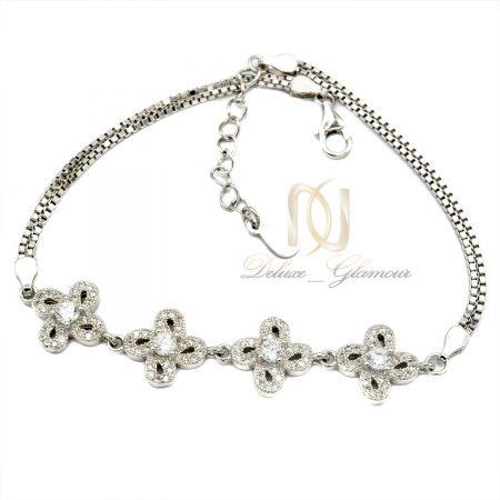 دستبند دخترانه نقره تایلندی ظریف ds-n416 از نمای سفید