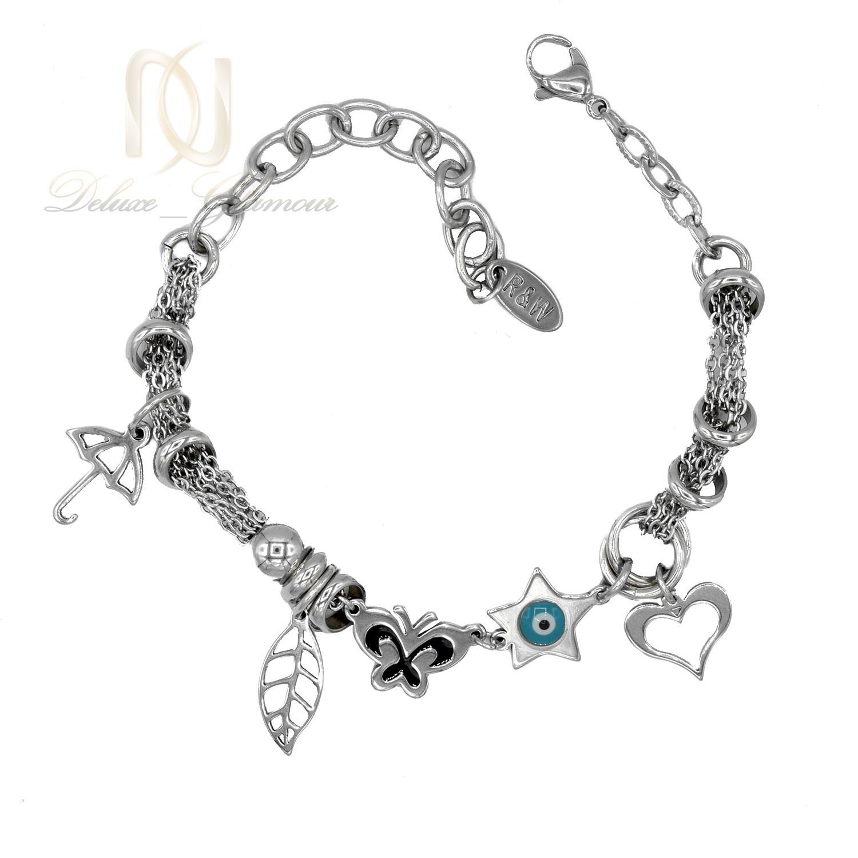 دستبند زنانه آویزدار استیل طرح چشم نظر ds-n430 از نمای بالا