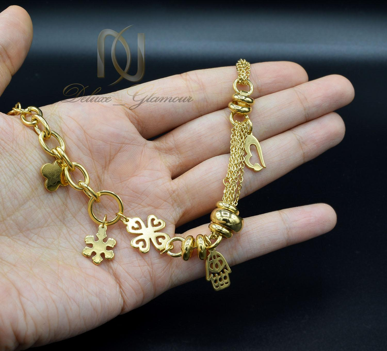 دستبند زنانه آویزدار طرح طلای جدید DS-N420