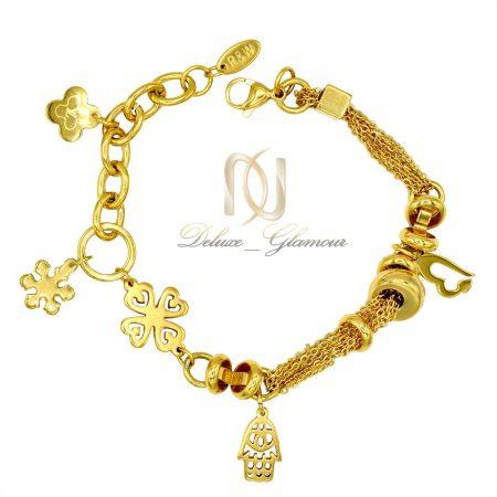 دستبند زنانه آویزدار طرح طلای جدید DS-N420 از نمای بالا