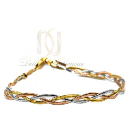 دستبند زنانه ژوپینگ طرح ایتالیایی ds-n443 از نمای سفید