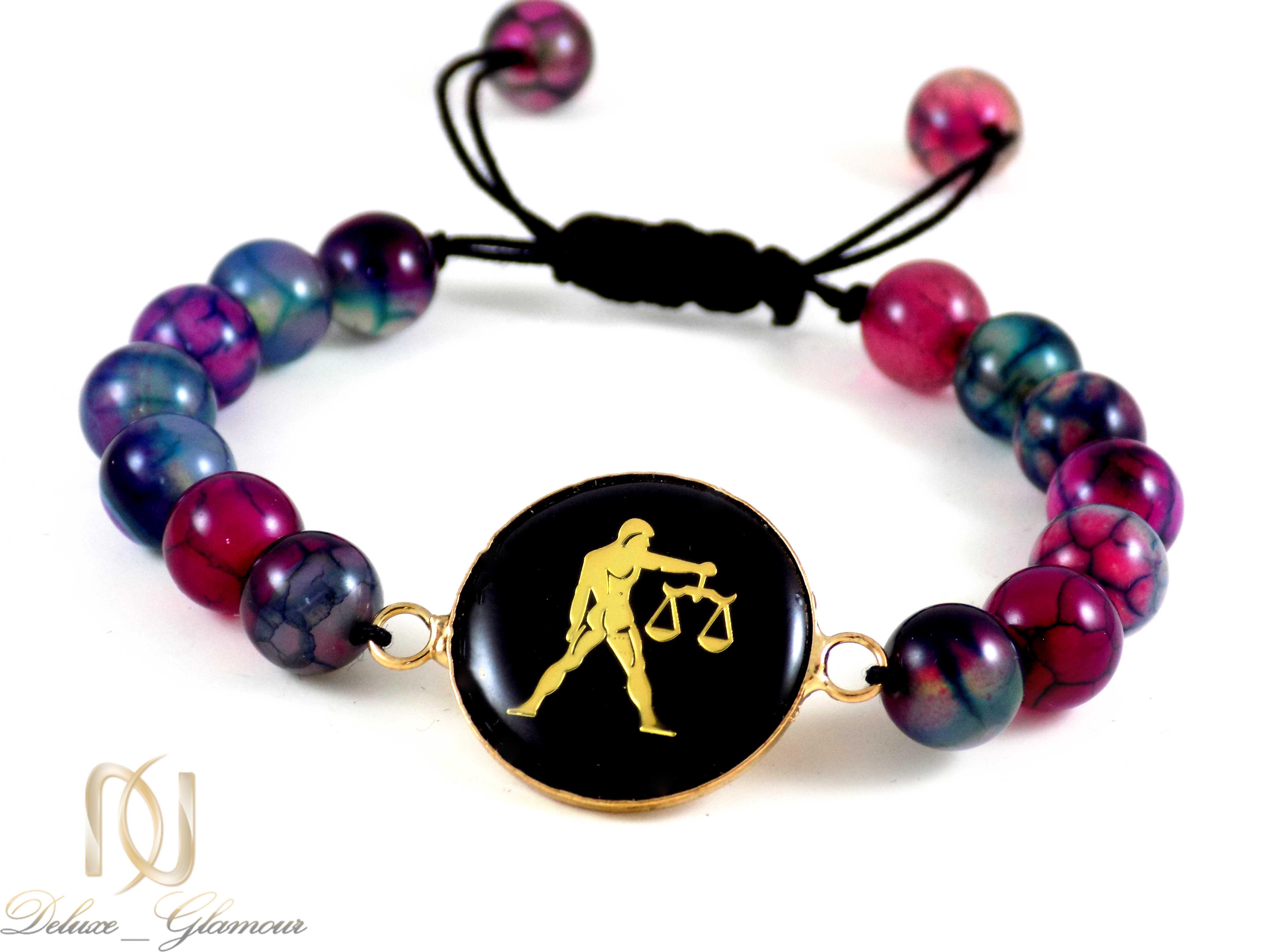 دستبند سنگ ماه تولد مهر تورمالین ds-n414