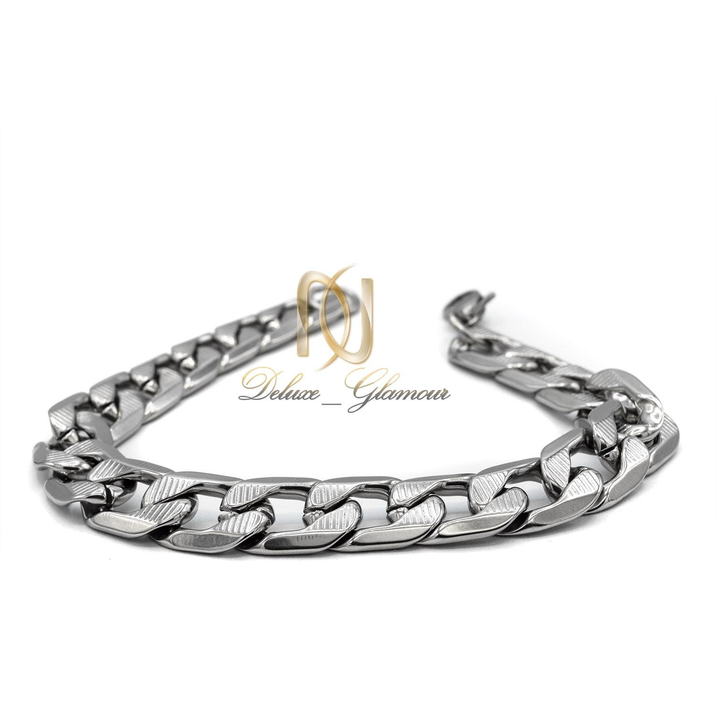 دستبند مردانه اسپرت استیل طرح کارتیه ds-n423 از نمای سفید