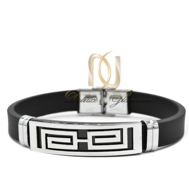 دستبند مردانه اسپرت رویه استیل ds-n438 از نمای سفید