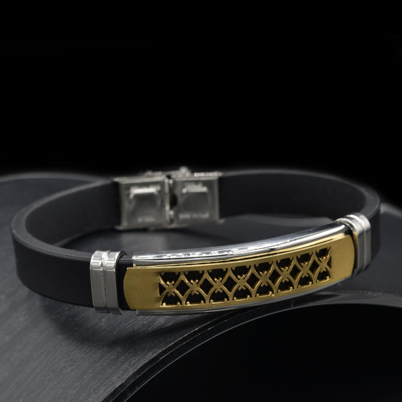 دستبند مردانه اسپرت رویه طلایی ds-n440