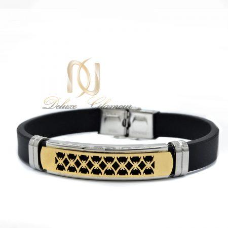 دستبند مردانه اسپرت رویه طلایی ds-n440 از نمای سفید