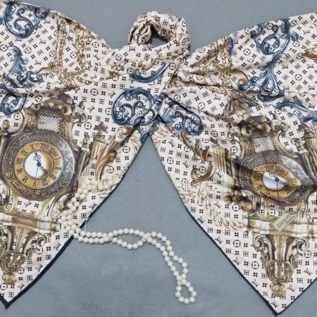 روسری ابریشم توییل کج راه دوردست دوز sr-n285