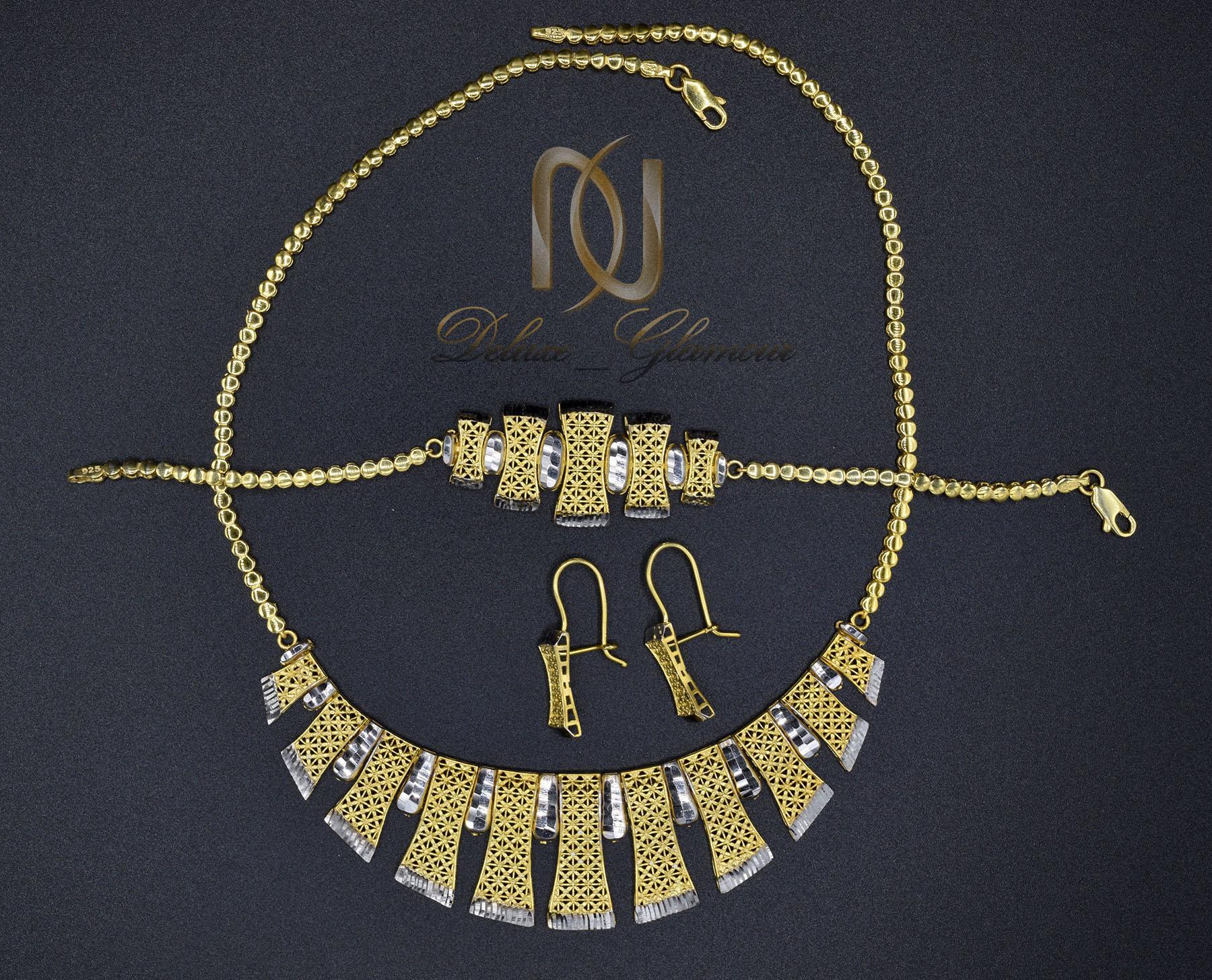 سرویس نقره زنانه تراش طرح طلا NS-N446