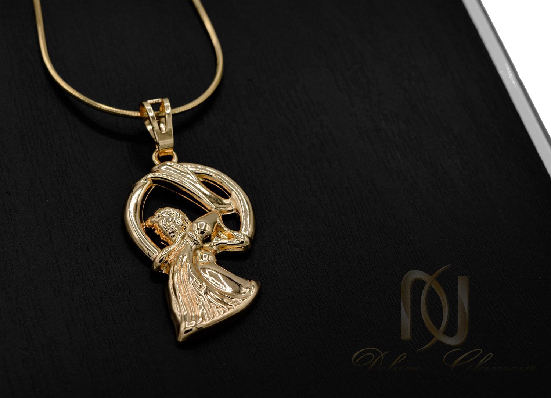 گردنبند ماه تولد بهمن ماه ژوپینگ طلایی NW-N481 از نمای مشکی