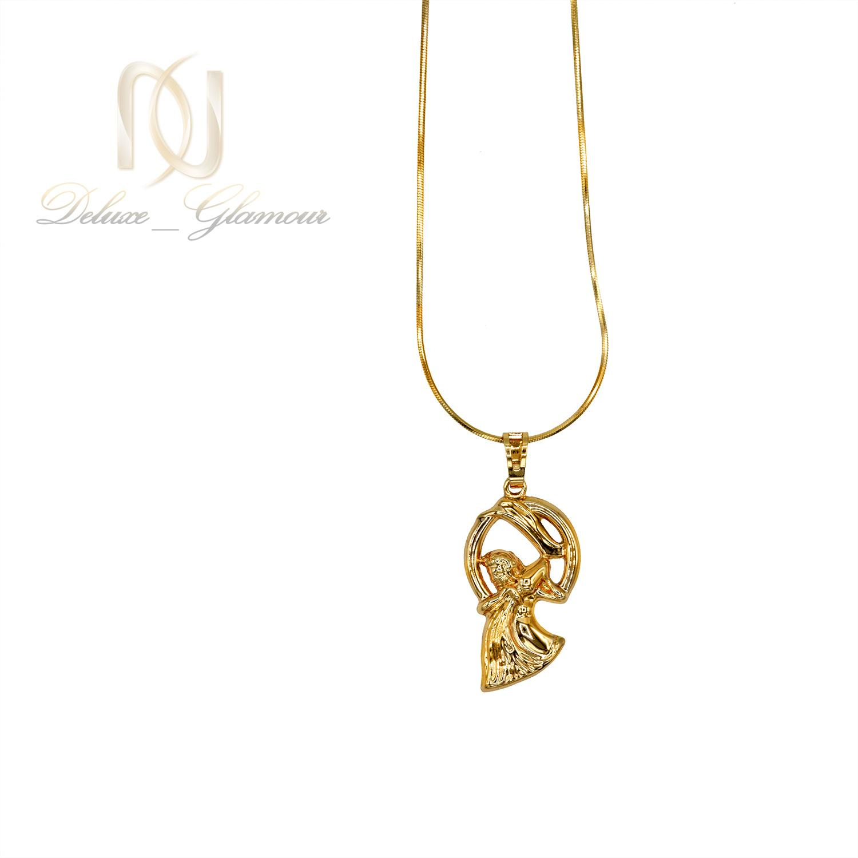 گردنبند ماه تولد بهمن ماه ژوپینگ طلایی NW-N481 از نمای سفید