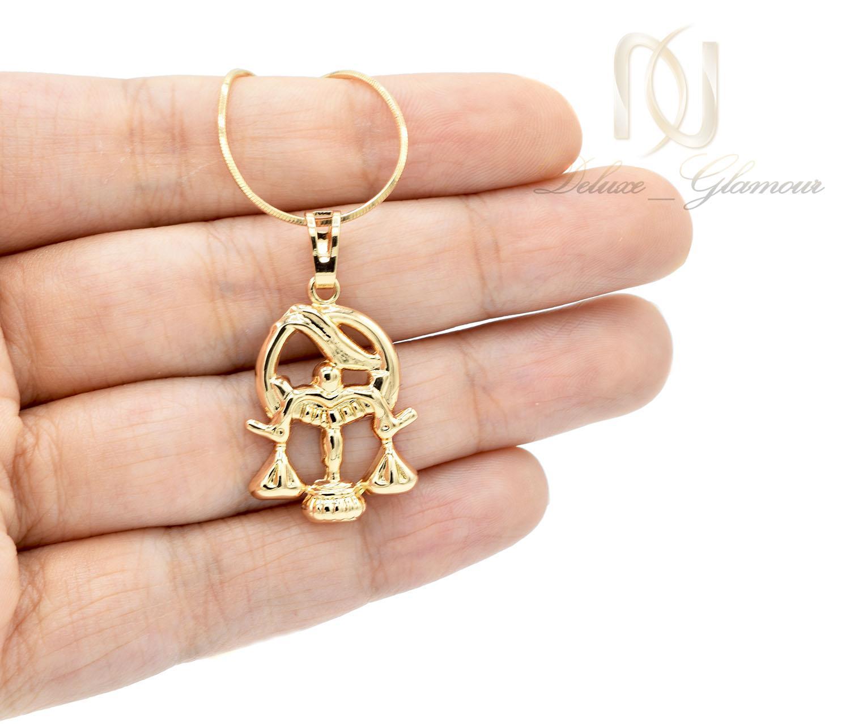 گردنبند ماه تولد مهر دخترانه ژویپنگ طلایی nw-n468 از نمای روی دست