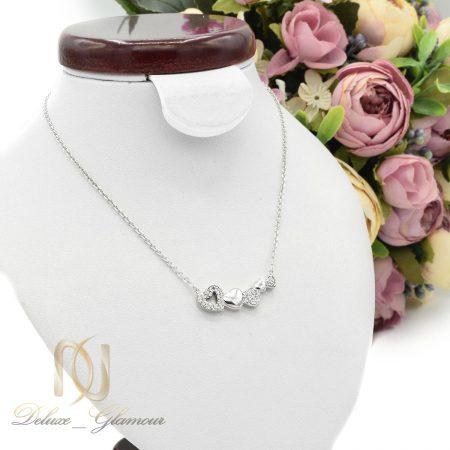 گردنبند نقره دخترانه ظریف طرح قلب nw-n465