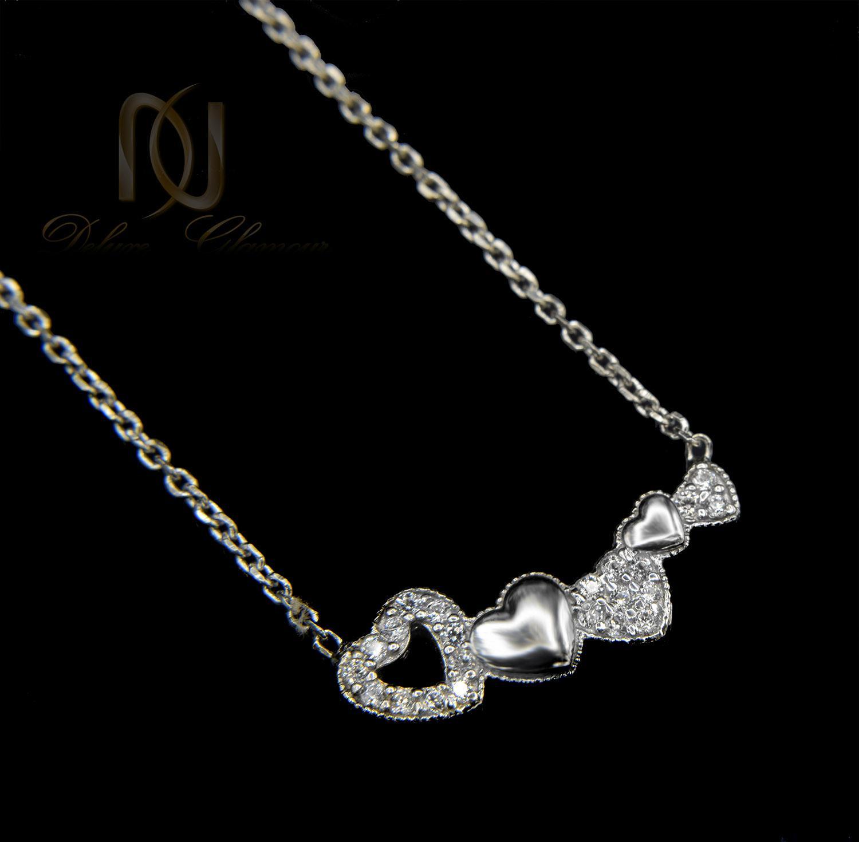 گردنبند نقره دخترانه ظریف طرح قلب nw-n465 (2)