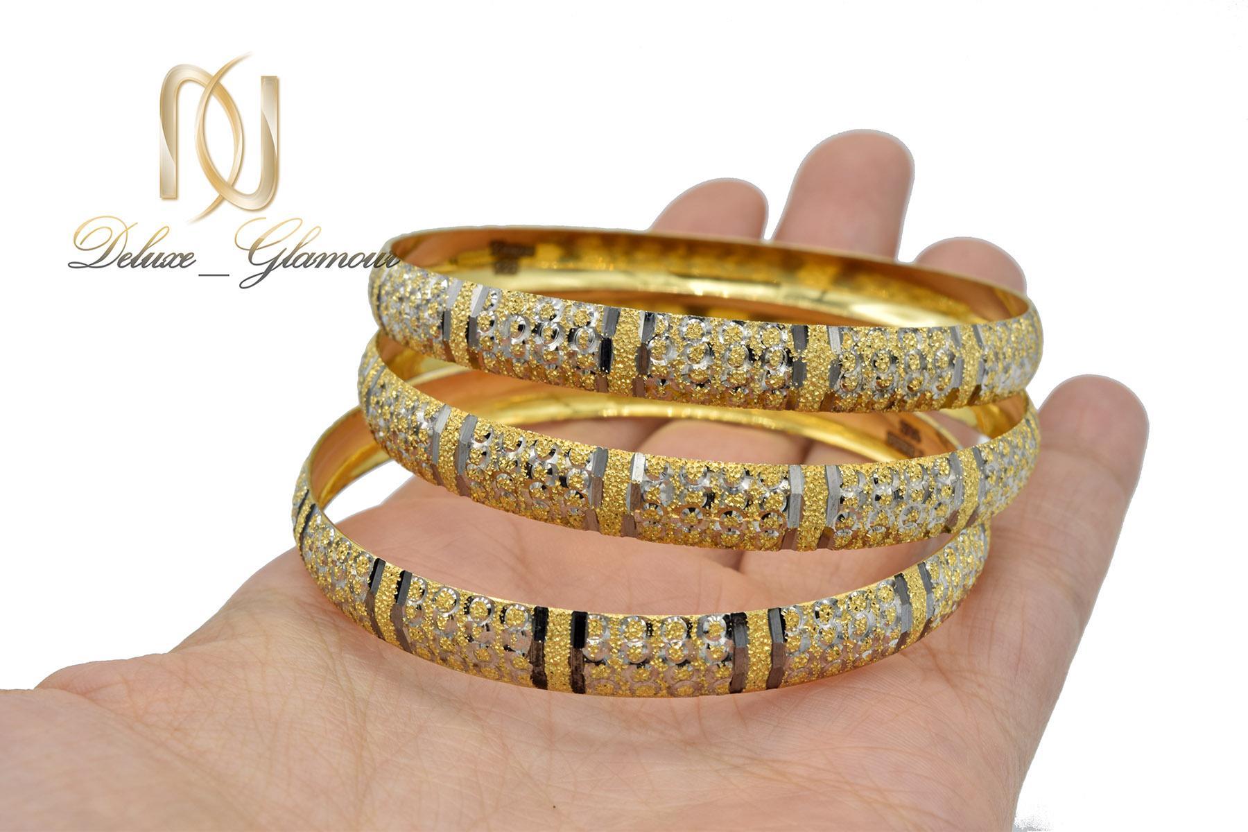 النگو زنانه نقره تراش طرح طلای دو رنگ al-n117 از نمای نزدیک