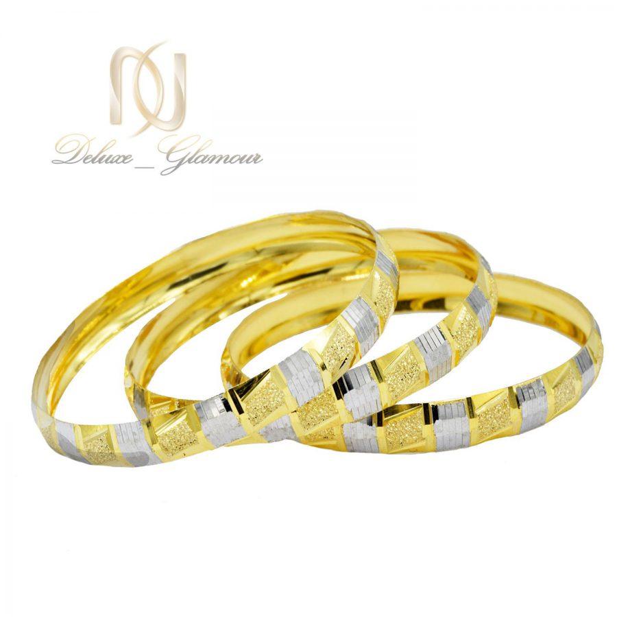 النگو نقره تراش طرح طلای دو رنگ al-n114 از نمای سفید