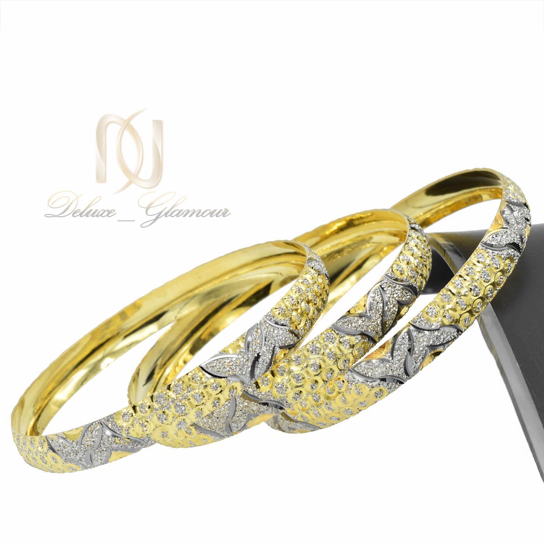 النگو نقره زنانه تراش دو رنگ طرح طلا al-n115 از نمای کنار