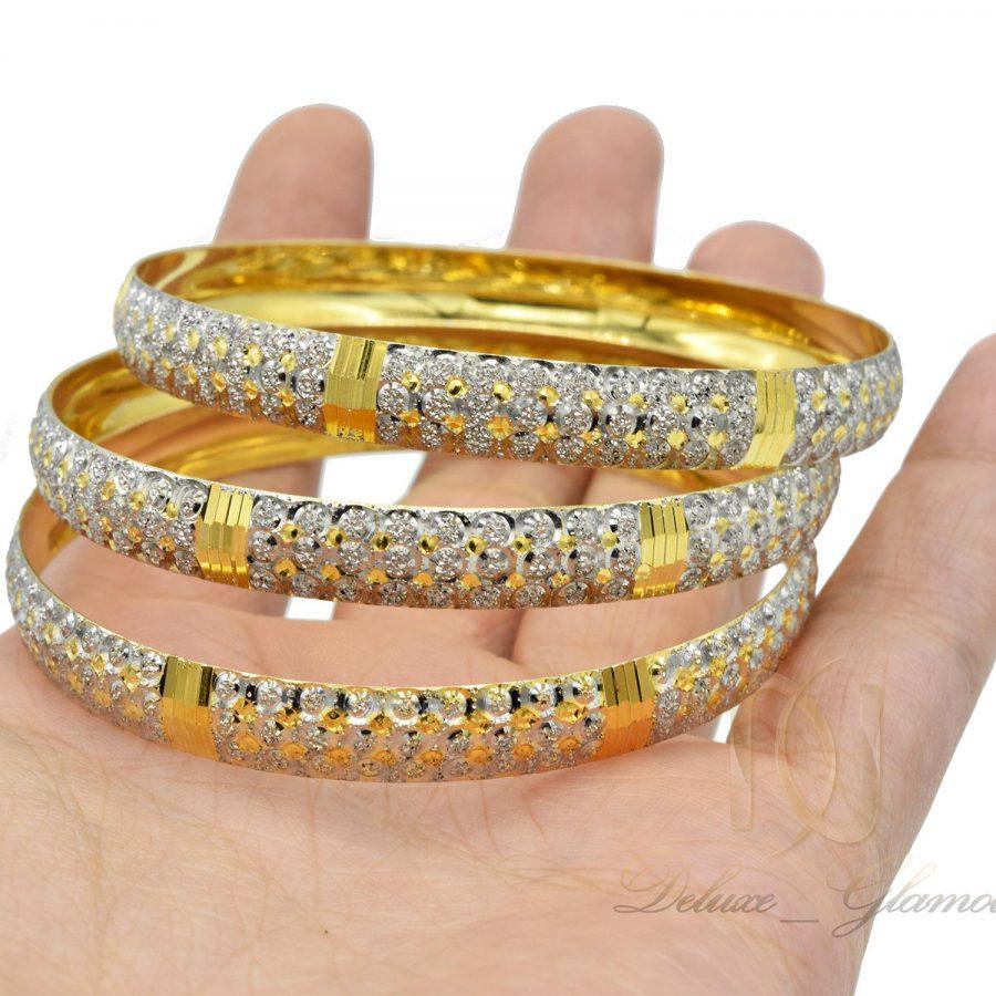 النگو نقره زنانه تراش طرح طلا al-n118 از نمای نزدیک