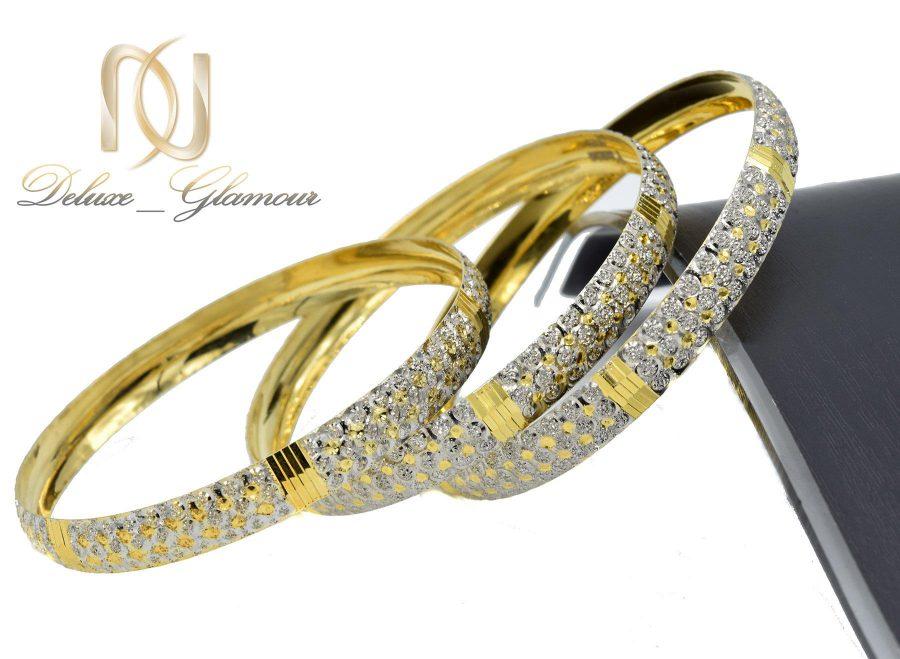 النگو نقره زنانه تراش طرح طلا al-n118 از نمای کنار