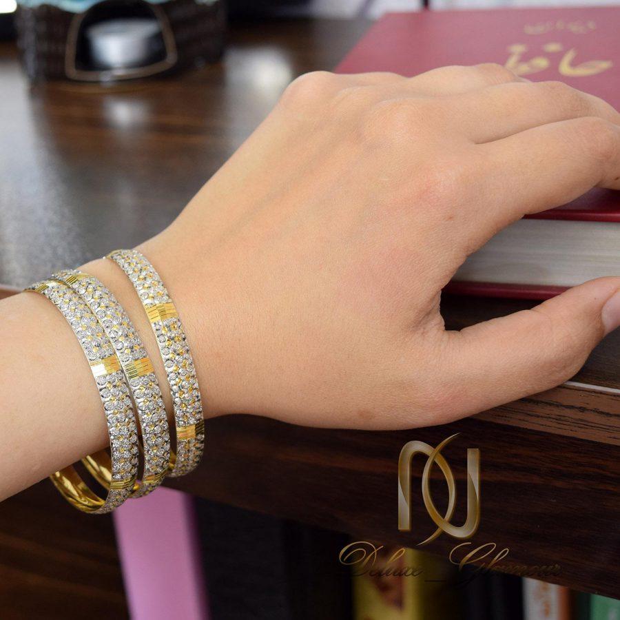 النگو نقره زنانه تراش طرح طلا al-n118 از نمای روی دست