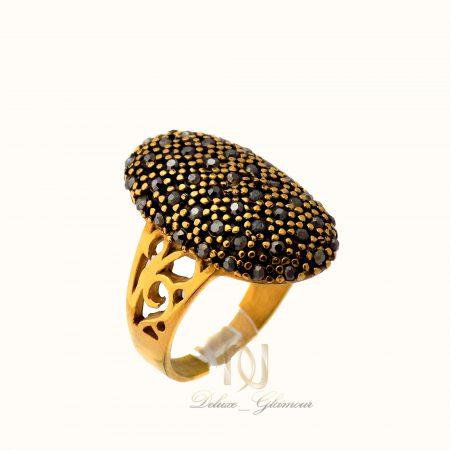 انگشتر زنانه برنجی طرح طلا مارکازیت rg-n369 از نمای سفید