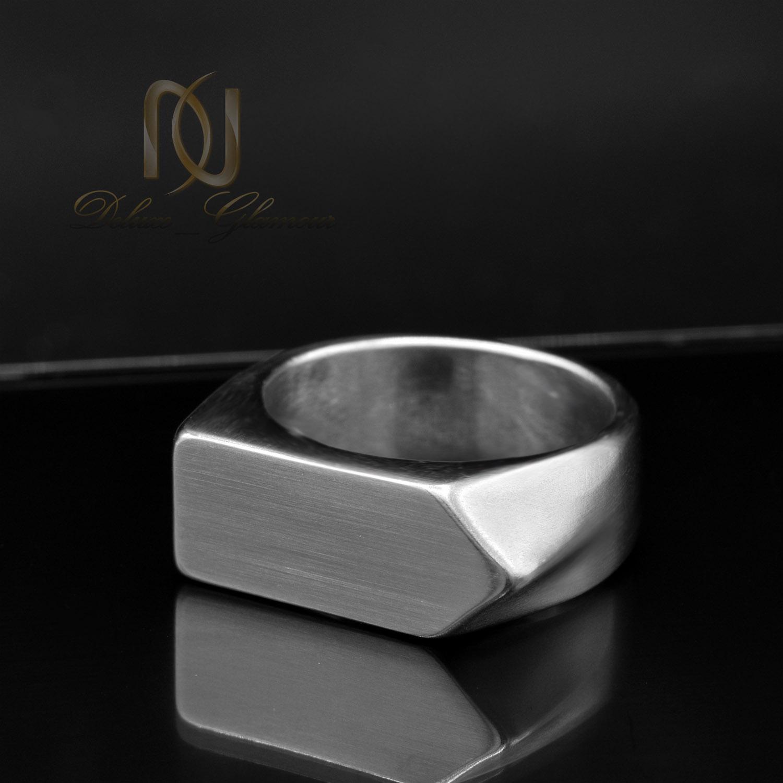 انگشتر مردانه اسپرت استیل طرح جدید rg-n352 از نمای مشکی