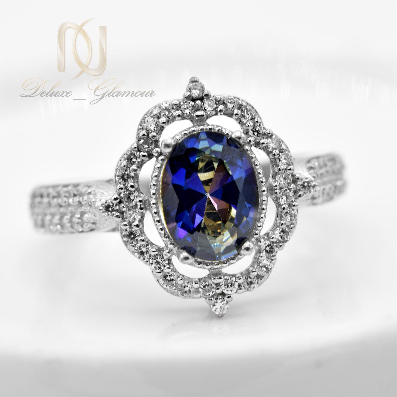 انگشتر نقره دخترانه نگین دار جواهری rg-n355