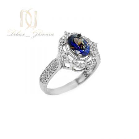 انگشتر نقره دخترانه نگین دار جواهری rg-n355 از نمای سفید