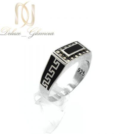 انگشتر نقره مردانه طرح ورساچه لوکس rg-n375 از نمای روبرو