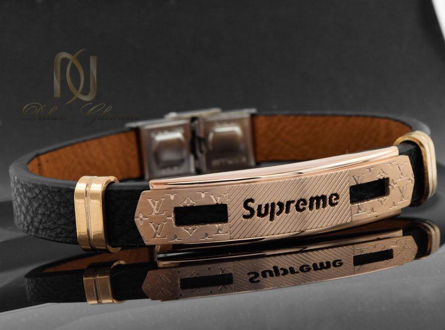 دستبند مردانه چرم طرح لویی ویتون ds-n474