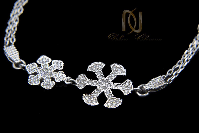دستبند نقره دخترانه ظریف طرح برف ds-n459