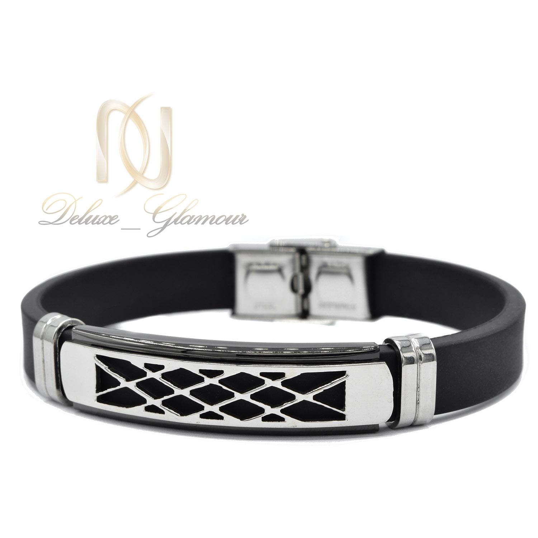 دستبند پسرانه اسپرت تک ردیفه لوکس ds-n452 از نمای سفید