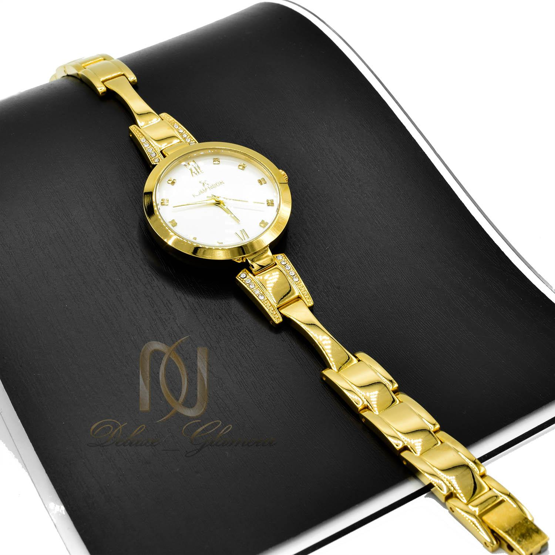 ساعت زنانه ROMANSON طلایی تک موتوره WH-N146 از نمای مشکی