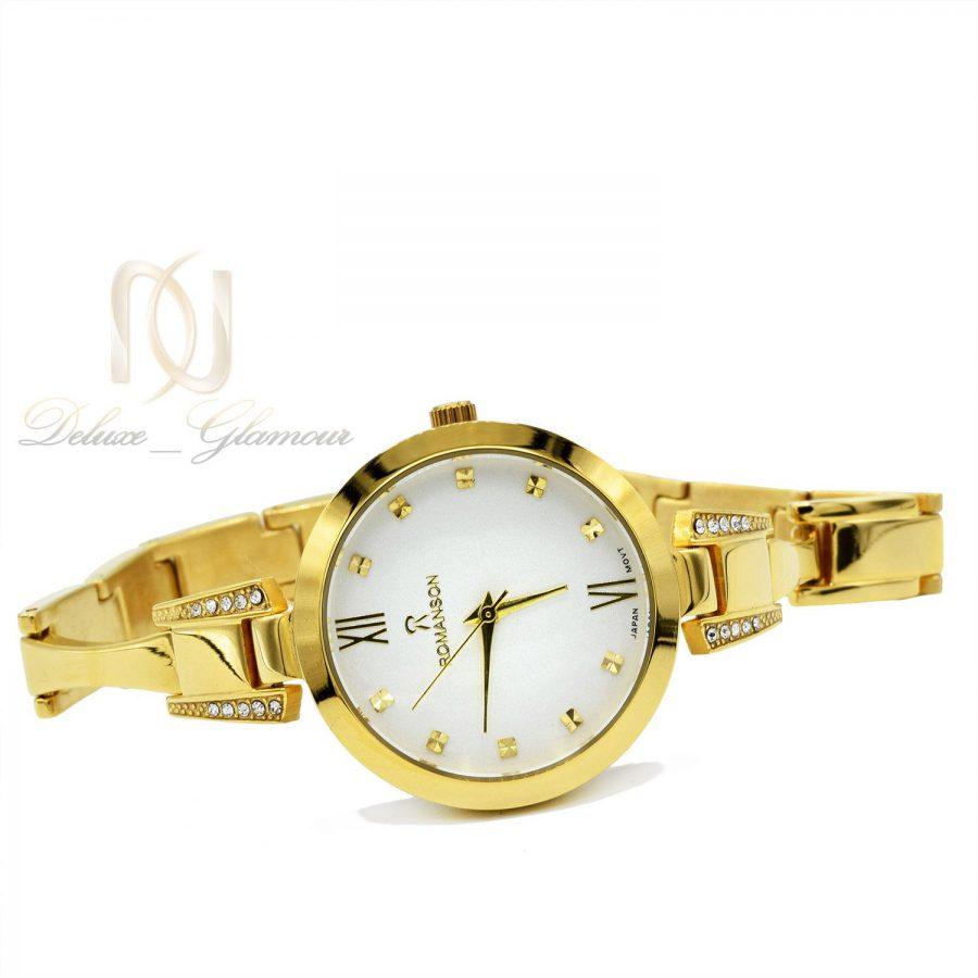 ساعت زنانه ROMANSON طلایی تک موتوره WH-N146 از نمای سفید