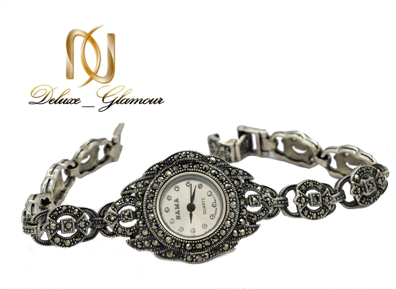 ساعت نقره زنانه مچی سیاه قلم سما WH-N142 از نمای سفید