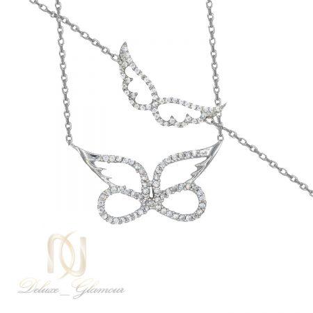 ست دستبند و گردنبند نقره طرح بال فرشته ns-n475