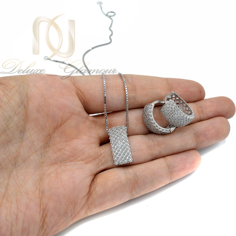 نیم ست نقره زنانه طرح پرنس پرنگین ns-n477 از نمای روی دست