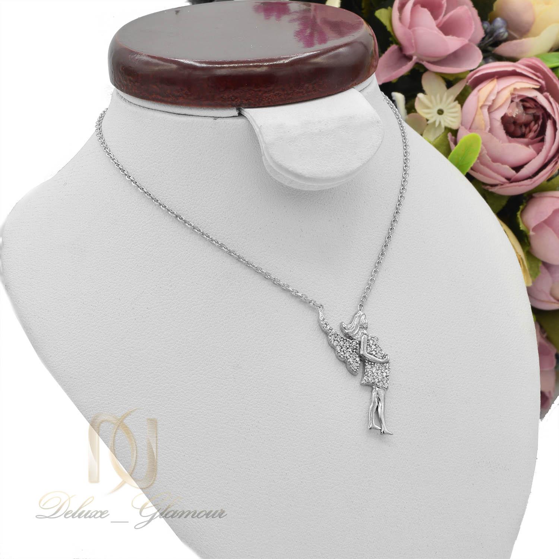گردنبند دخترانه نقره طرح فرشته نگین دار nw-n498