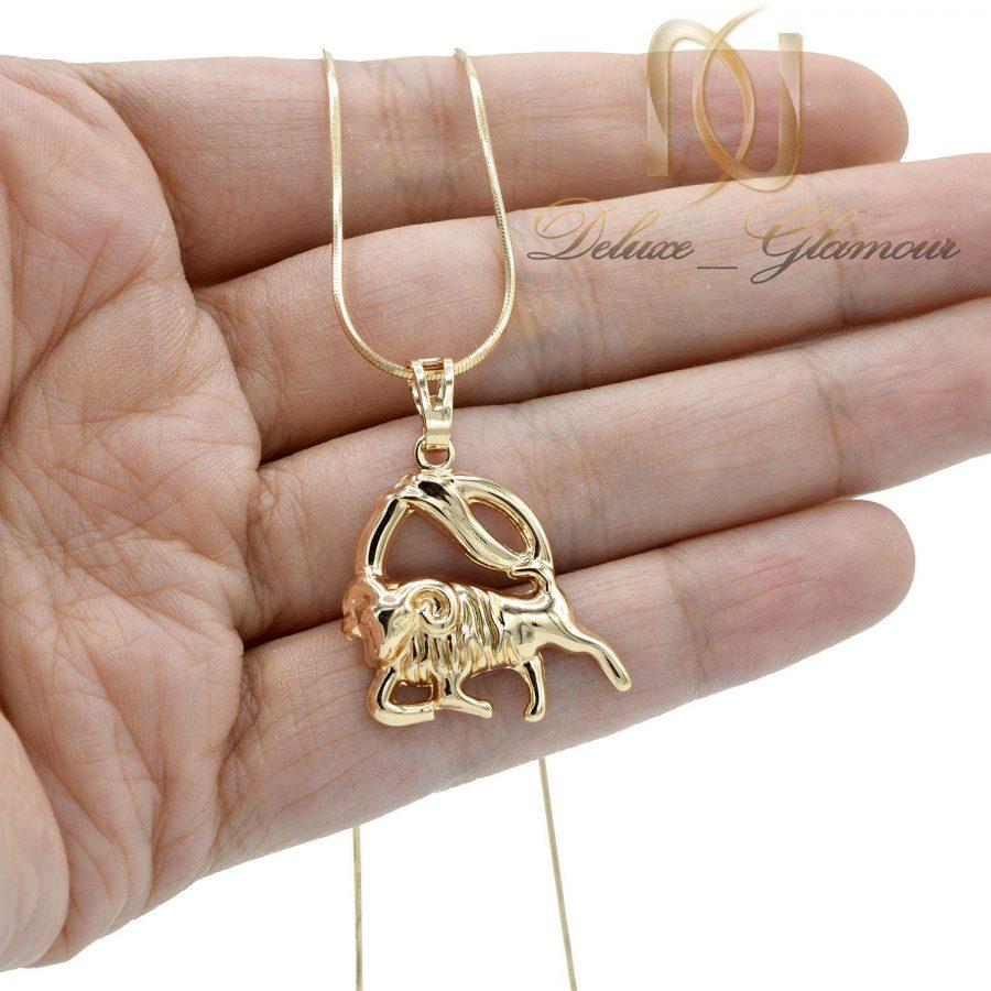 گردنبند ماه تولد دی طلایی ژوپینگ nw-n494 از نمای روی دست