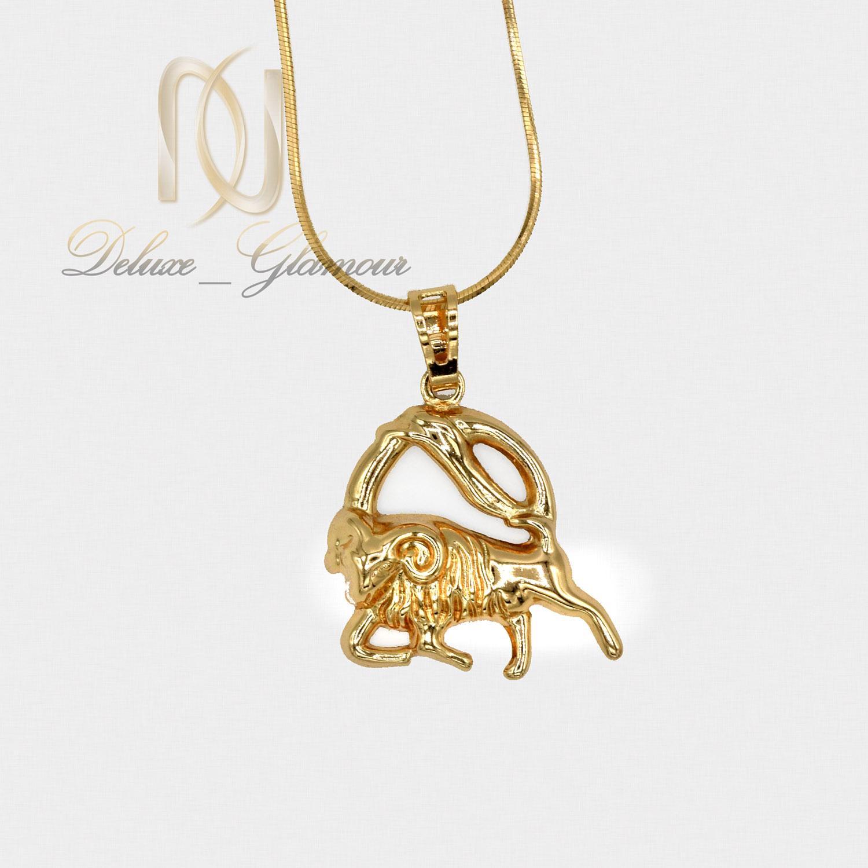گردنبند ماه تولد دی طلایی ژوپینگ nw-n494 از نمای سفید