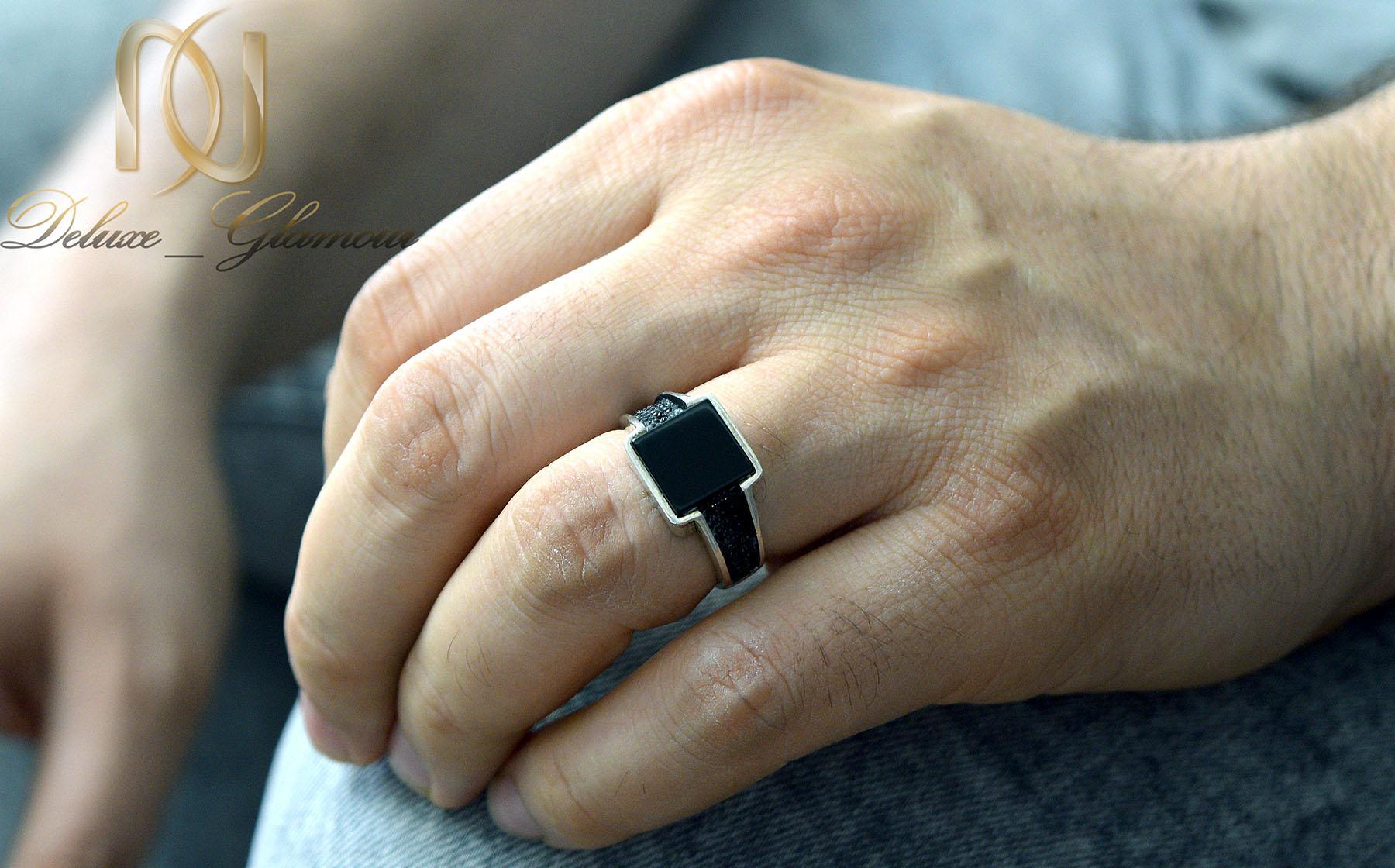 انگشتر نقره اسپرت مردانه نگین مربعی rg-n388