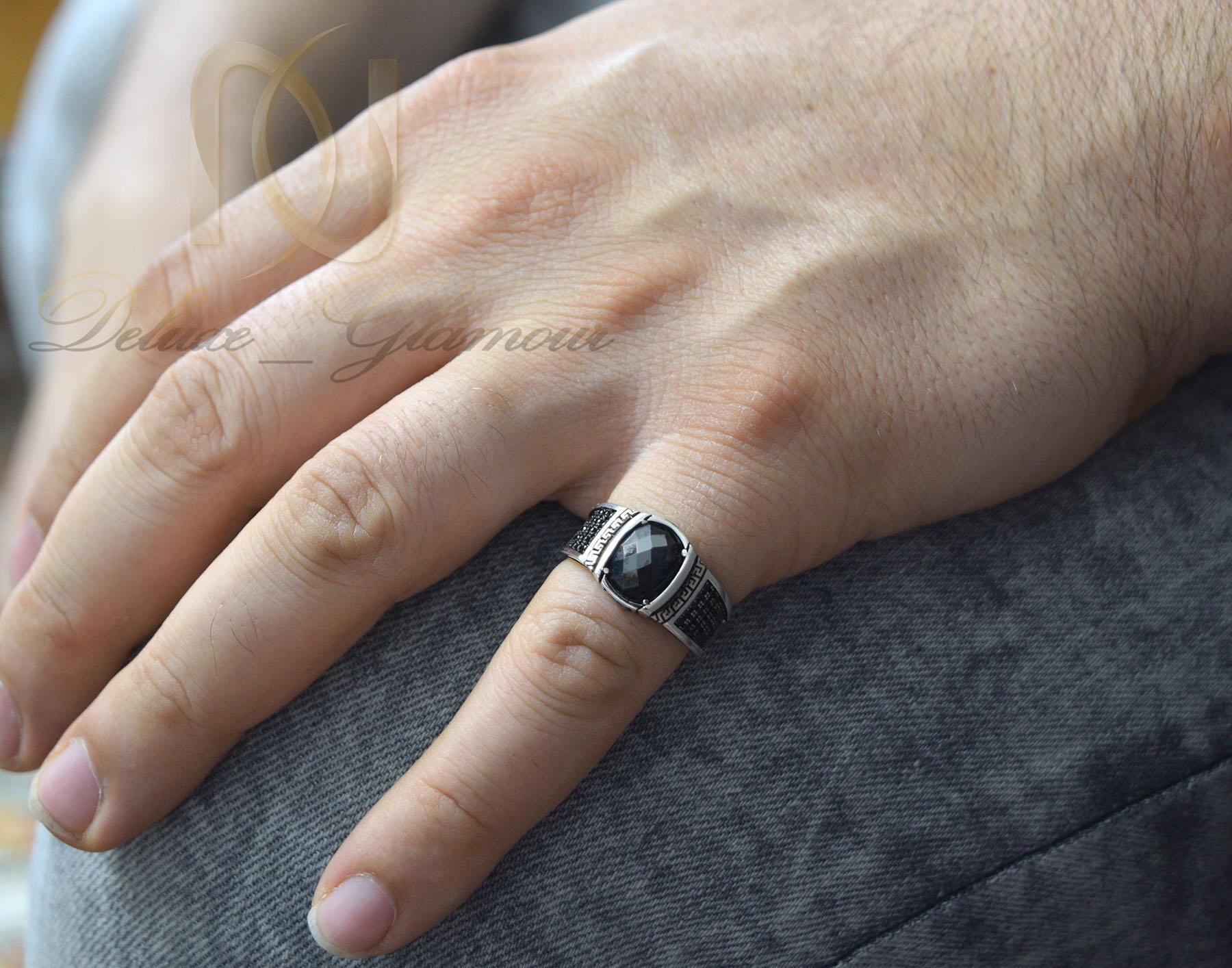 انگشتر مردانه نقره اسپرت نگین عقیق rg-n387