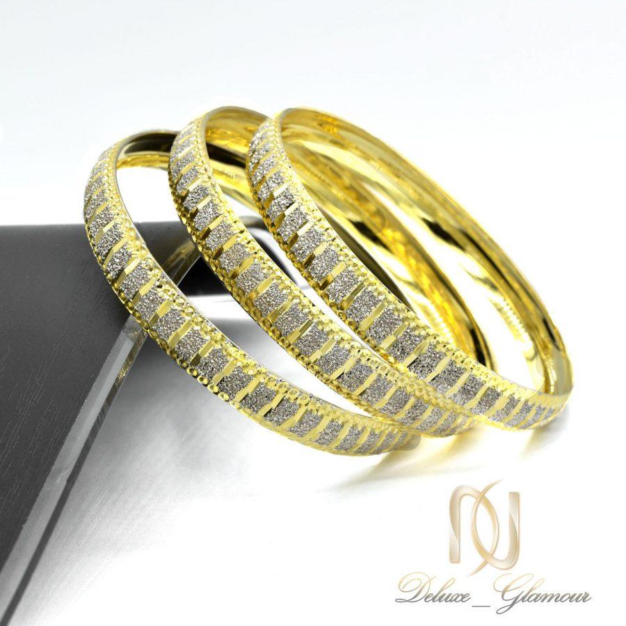 النگو زنانه نقره دو رنگ طرح طلا al-n127 از نمای کنار