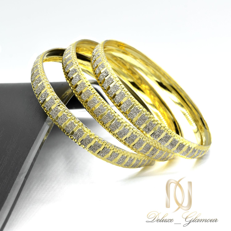 النگو زنانه نقره دو رنگ طرح طلا al-n127