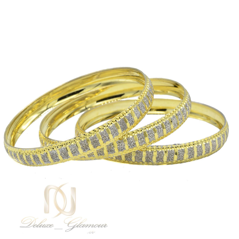 النگو زنانه نقره دو رنگ طرح طلا al-n127 از نمای سفید