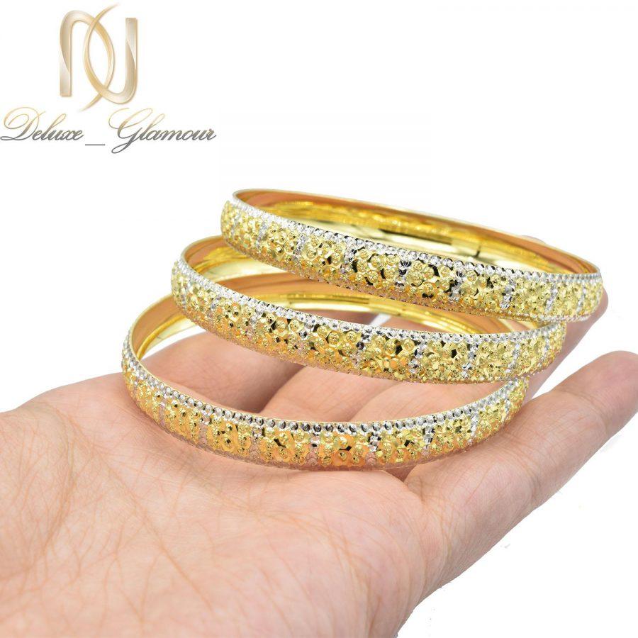 النگو نقره زنانه طرح طلا تراش جدید al-n128 از نمای دست
