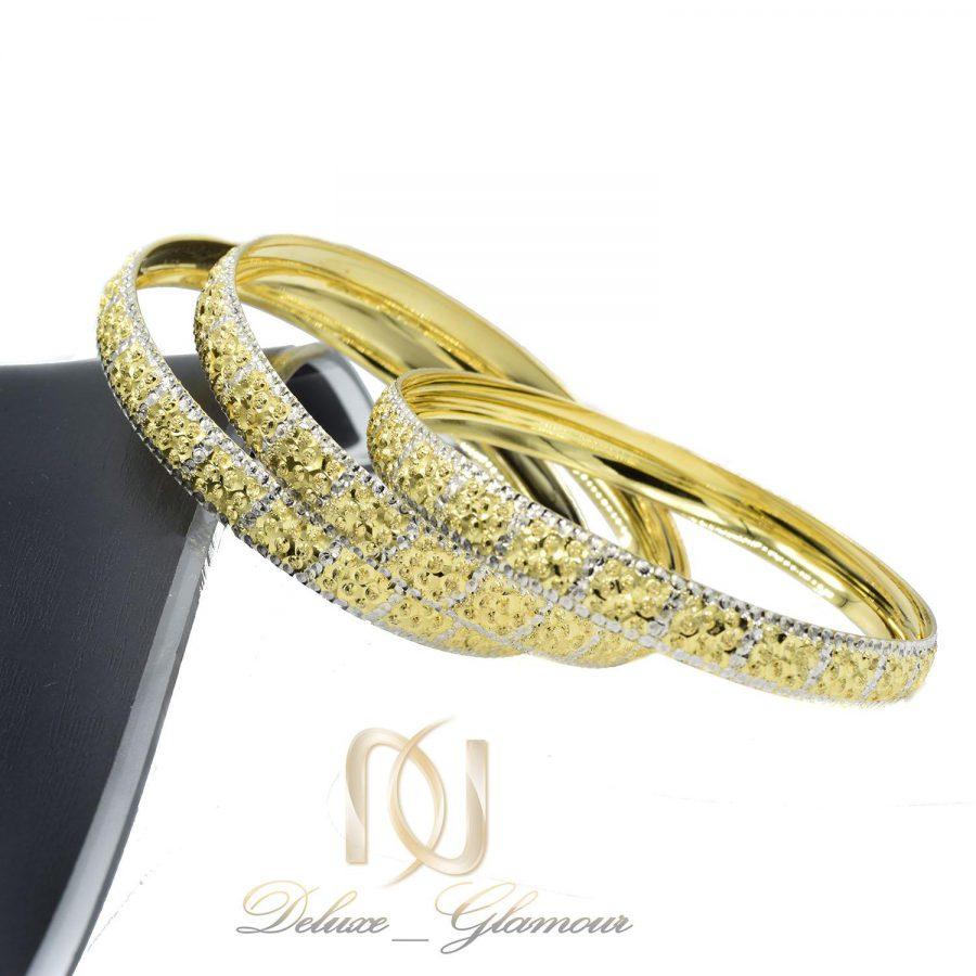 النگو نقره زنانه طرح طلا تراش جدید al-n128 از نمای کنار