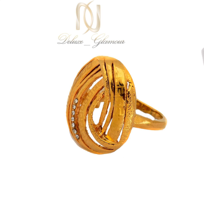 انگشتر استیل زنانه طرح طلای بزرگ rg-n382 از نمای پایین