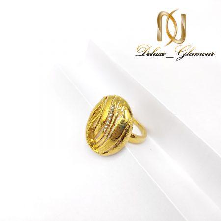 انگشتر استیل زنانه طرح طلای بزرگ rg-n382 از نمای سفید